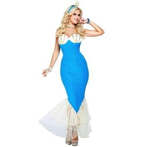 mermaid cosplay costume dress